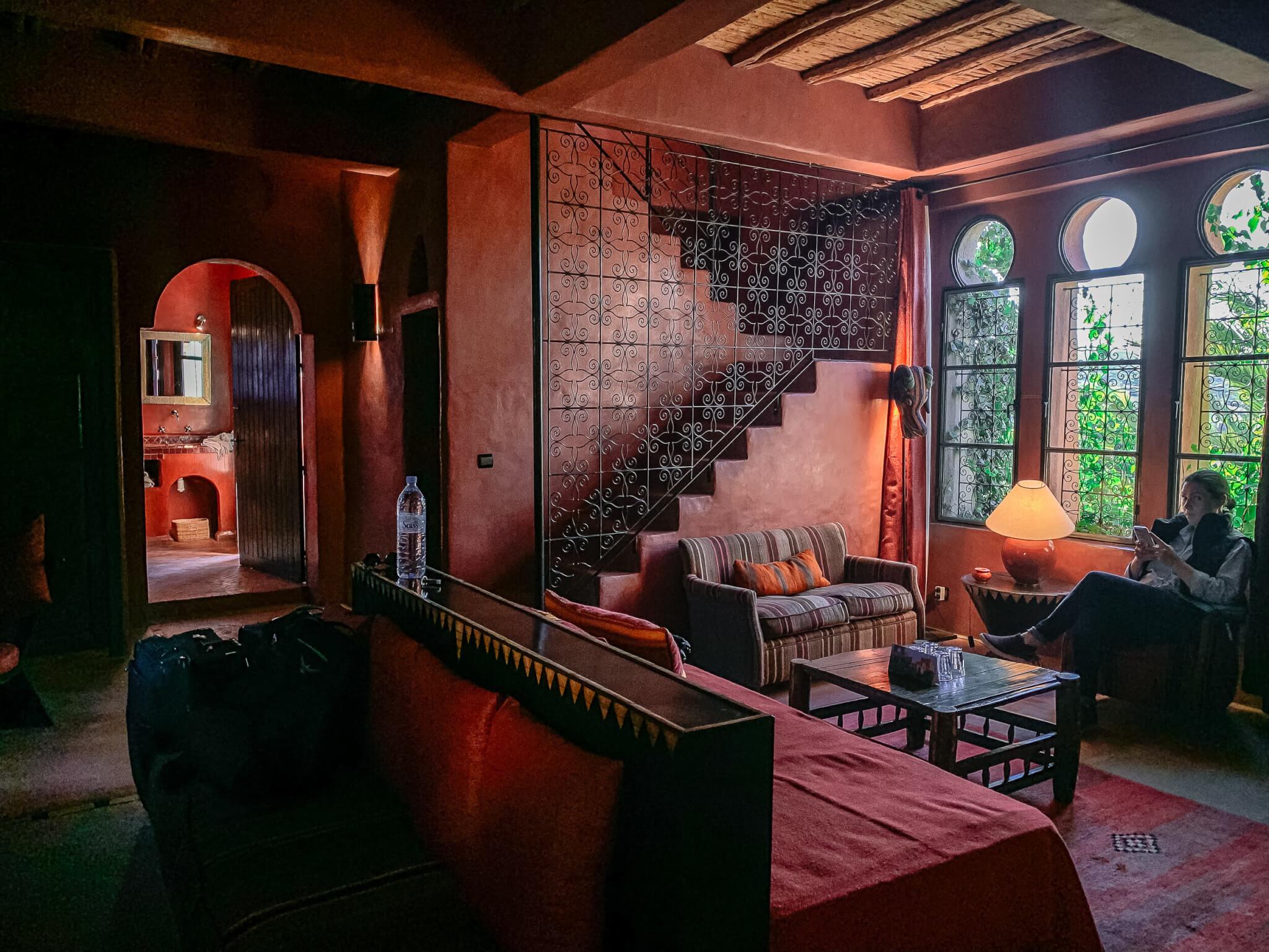 Le Jardin des Dours Mogador Suite sitting room