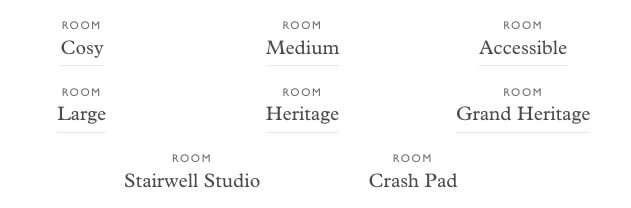 The Ned room types