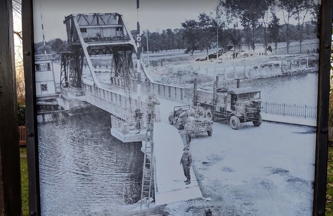 Pegasus Bridge vintage photo