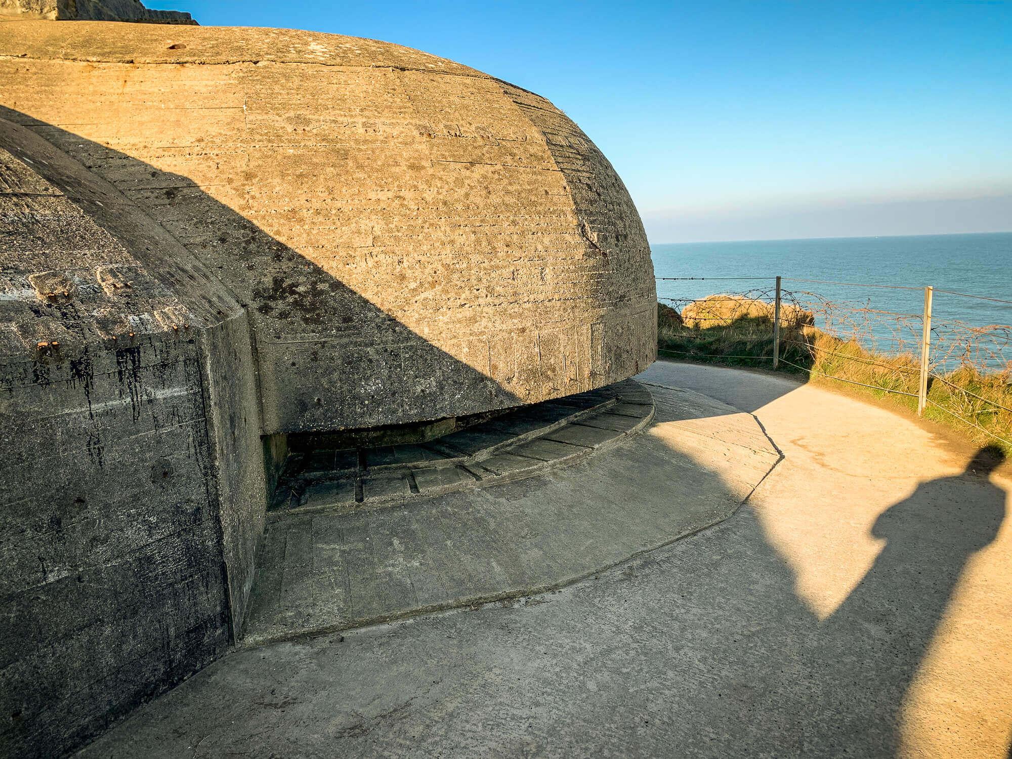 Pointe du Hoc bunker cliff