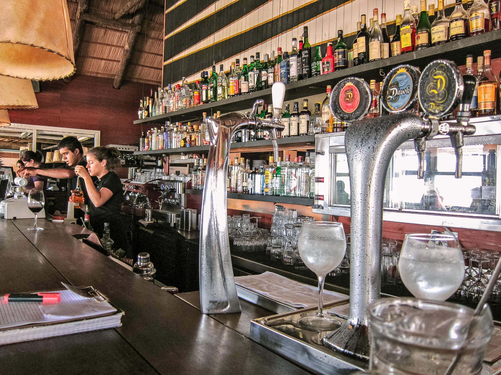Parador La Huella beer taps
