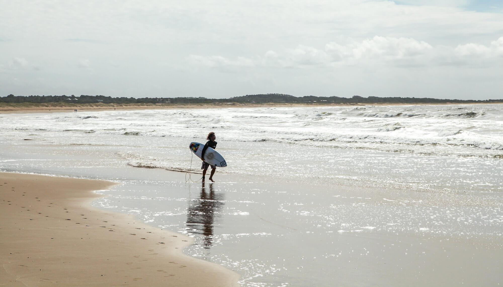 Surfing in Jose Ignacio
