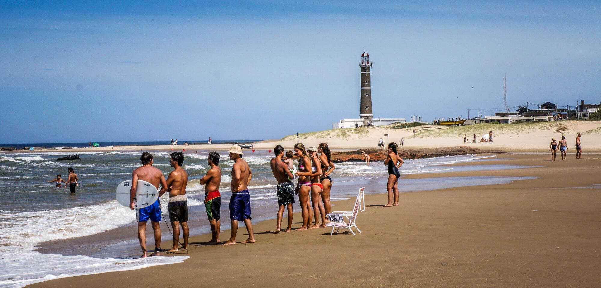Playa del Faro main beach Jose Ignacio