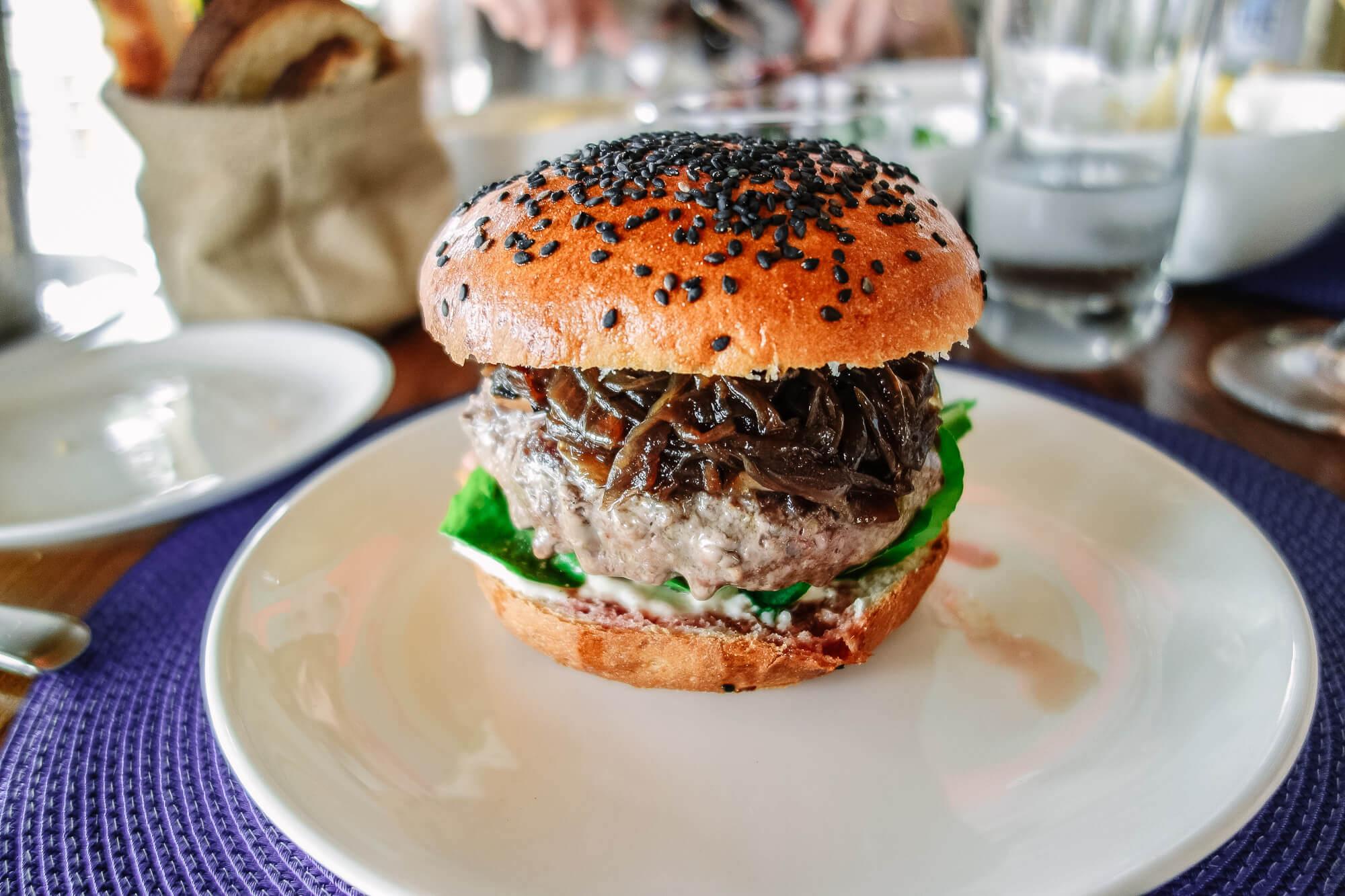 best burger at La Susana Bahia Vik