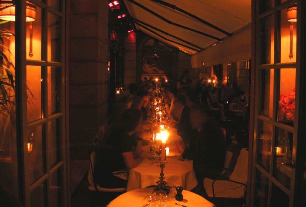 Hotel Costes candlelight dining