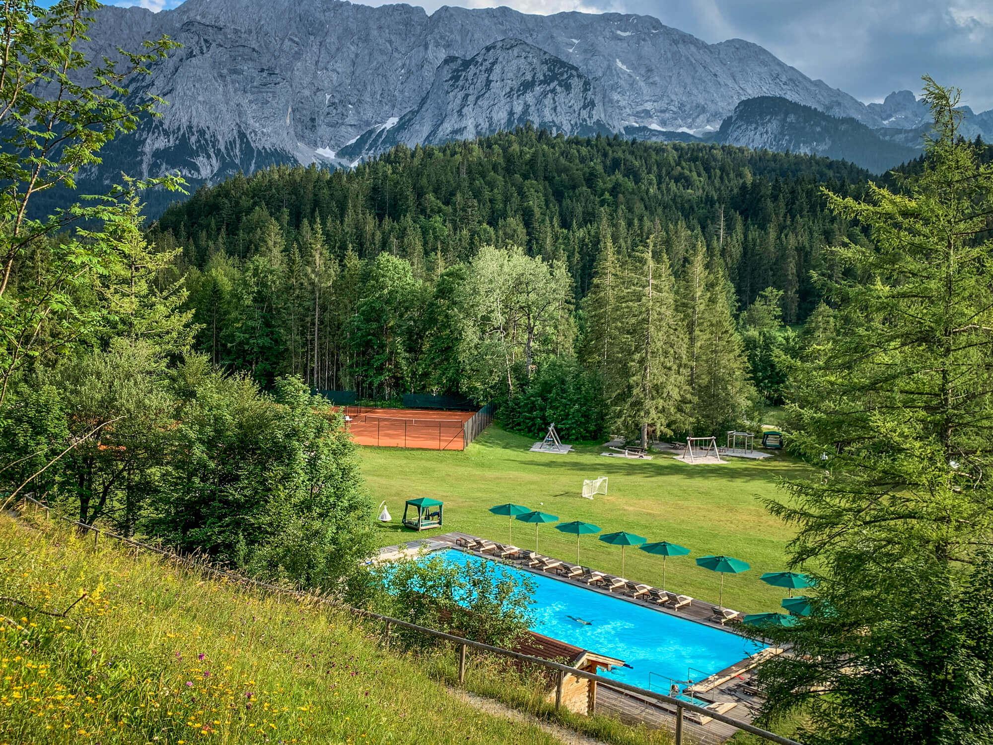Schloss Elmau pool view