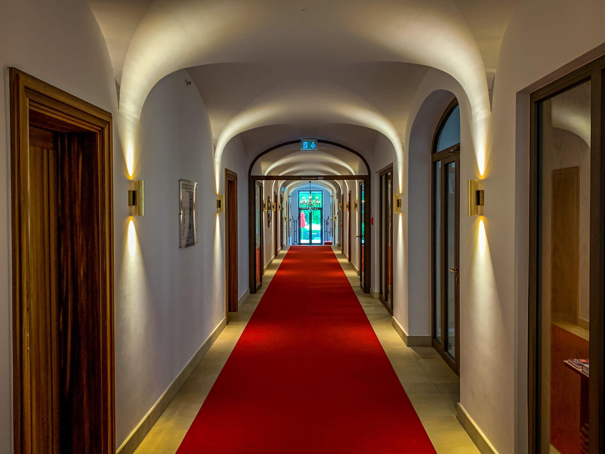 Schloss Elmau hallway