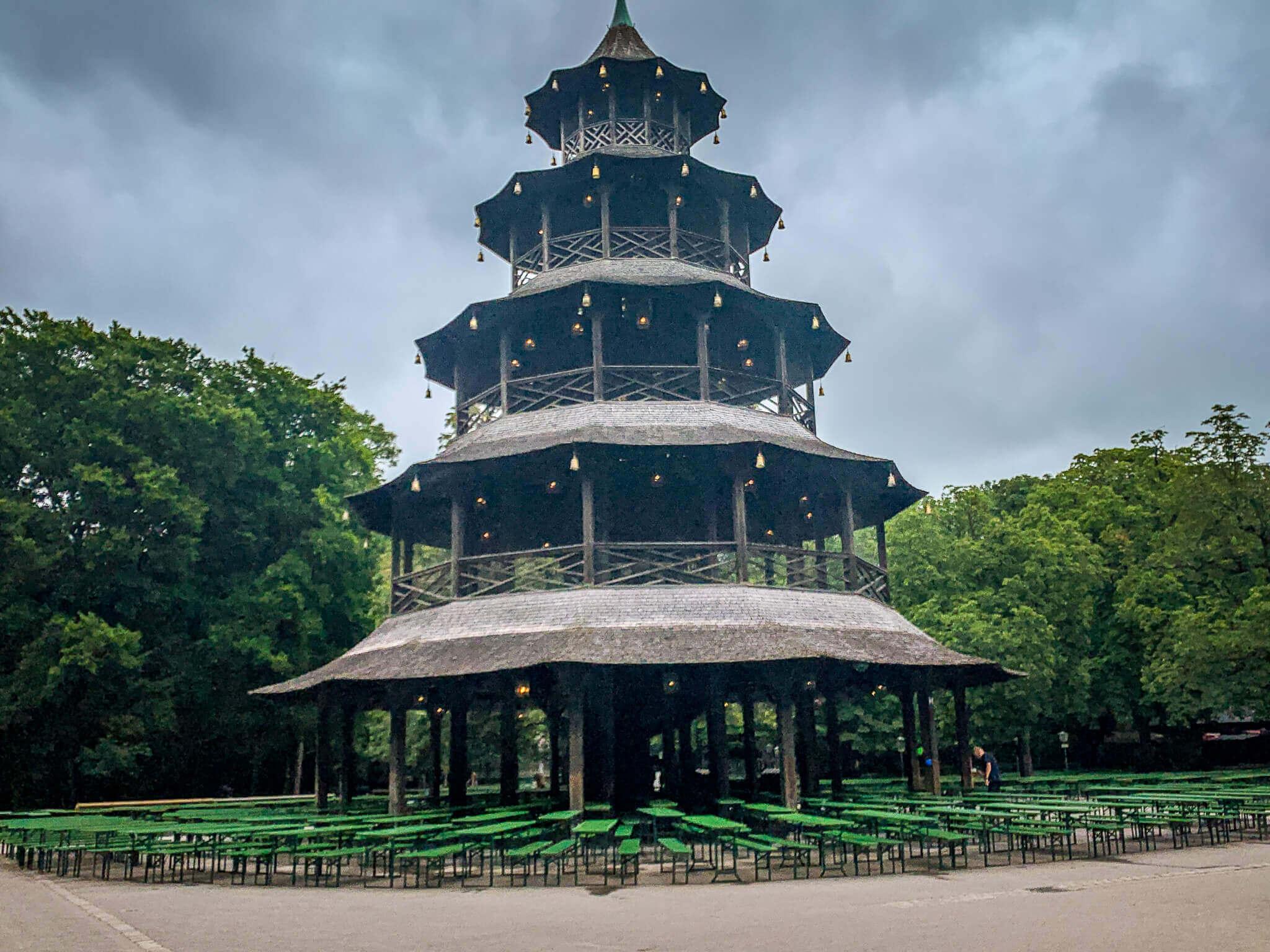 Englischer Garten beer pagoda