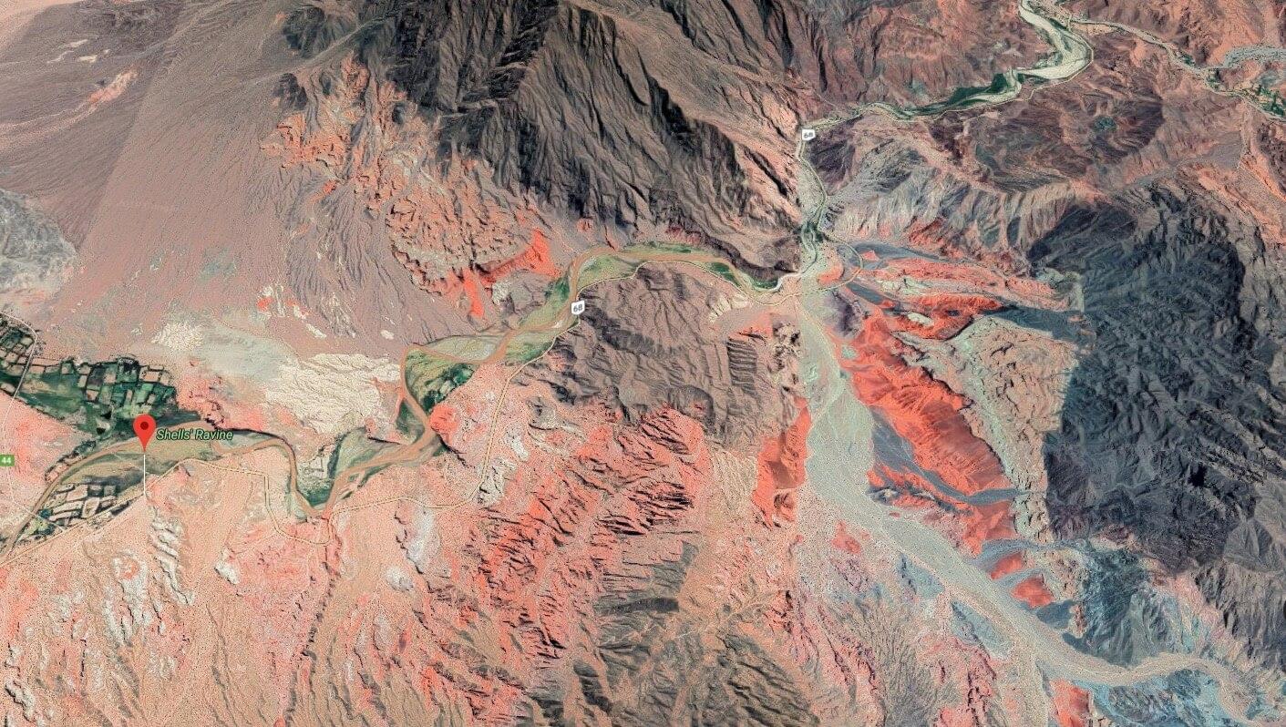 Location of Quebrada de las Conchas