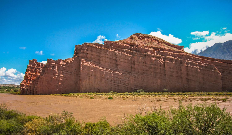 Canyon wall along river Quebrada de las Conchas