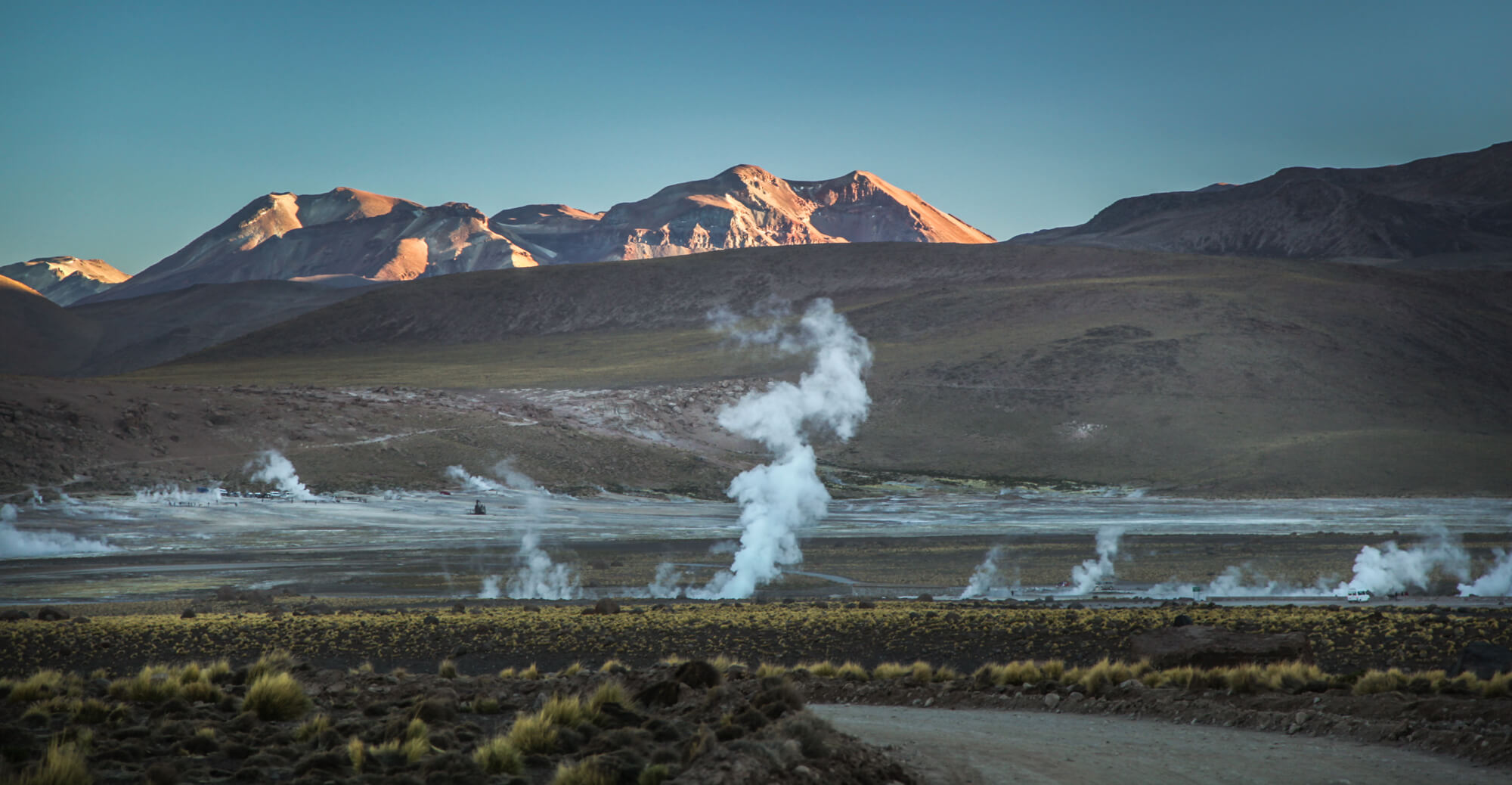 El Tatio geysers at dawn