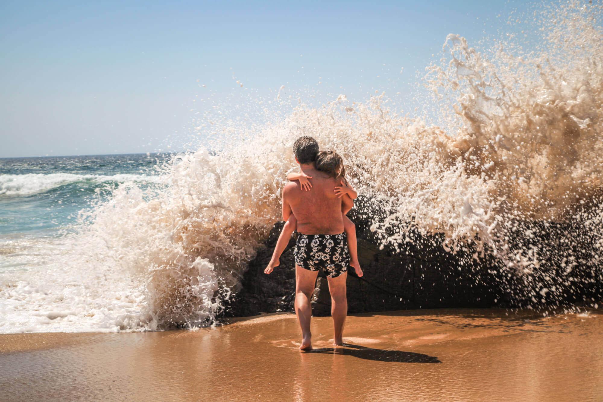 Praia do Guincho watching waves