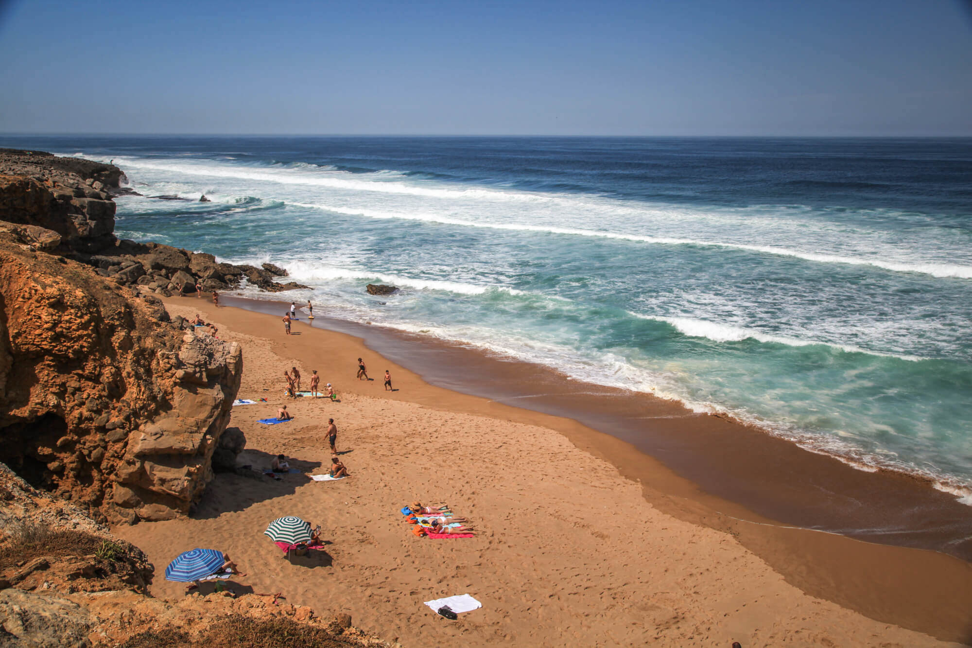 Praia do Guincho waves