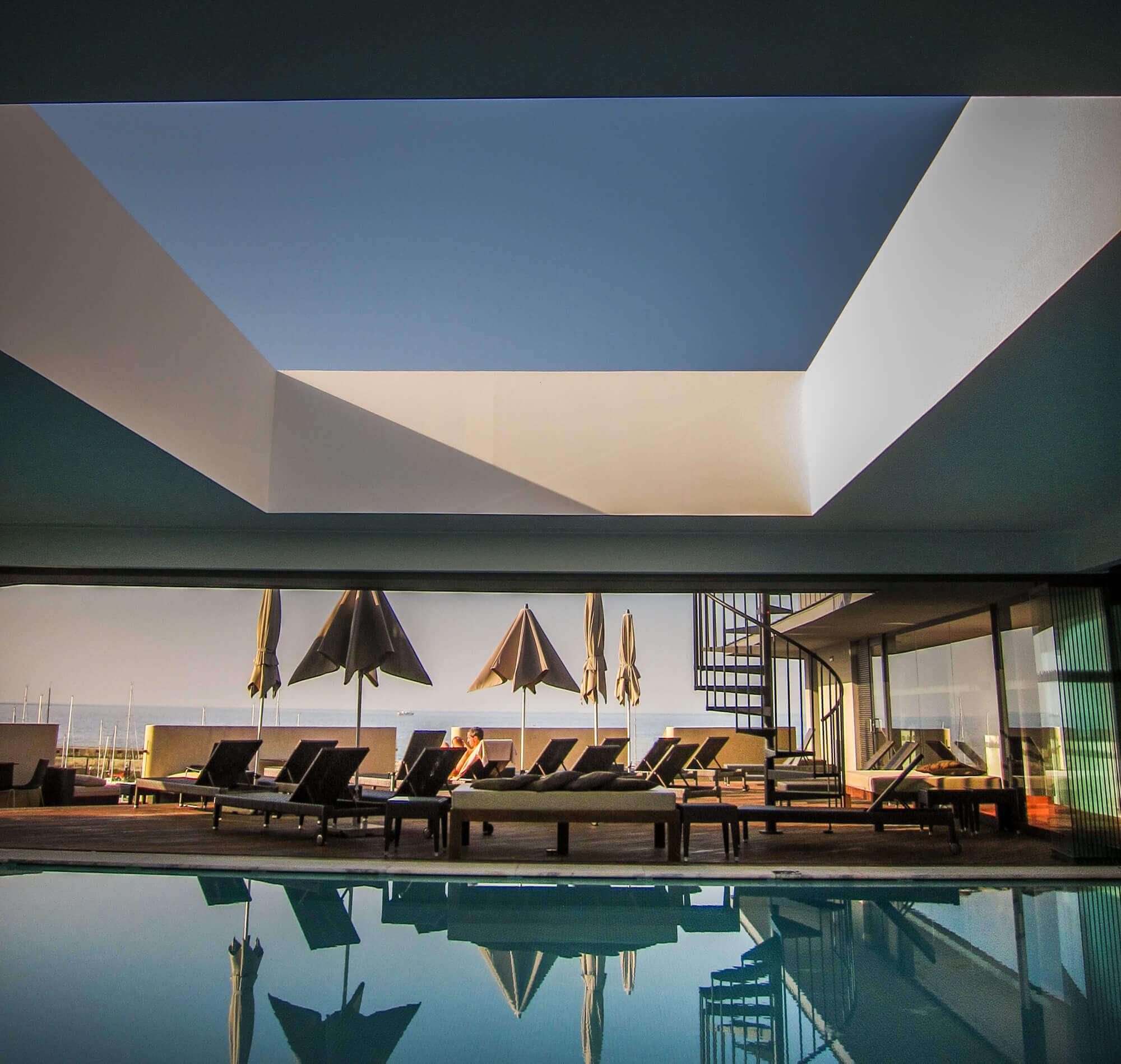 Pestana Cidadela Cascais pool skylight