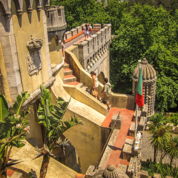 Pena Palace Sintra steps