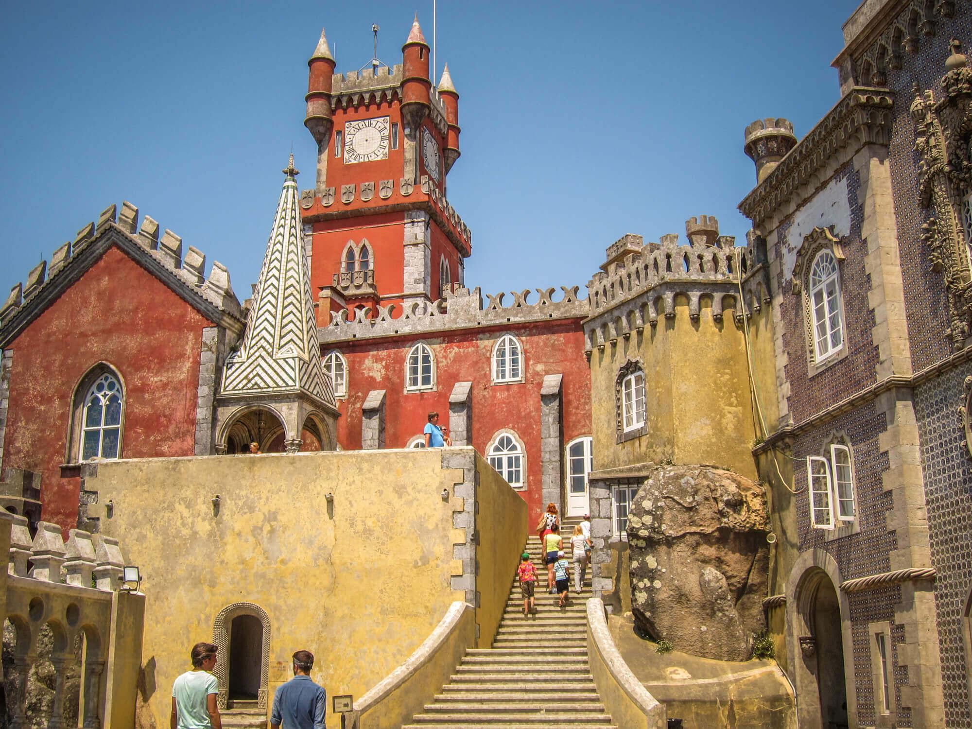 Sintra Pena Palace steps