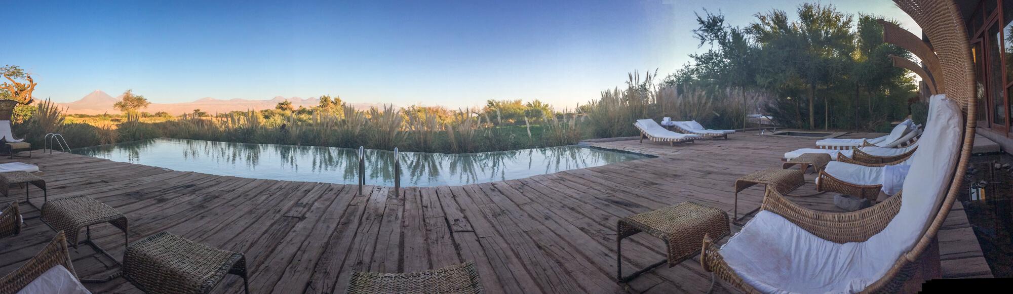 Pool view Tierra Atacama