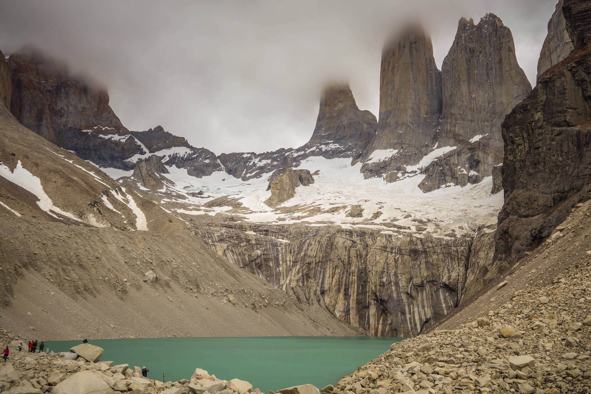 The Towers in mist Torres del Paine