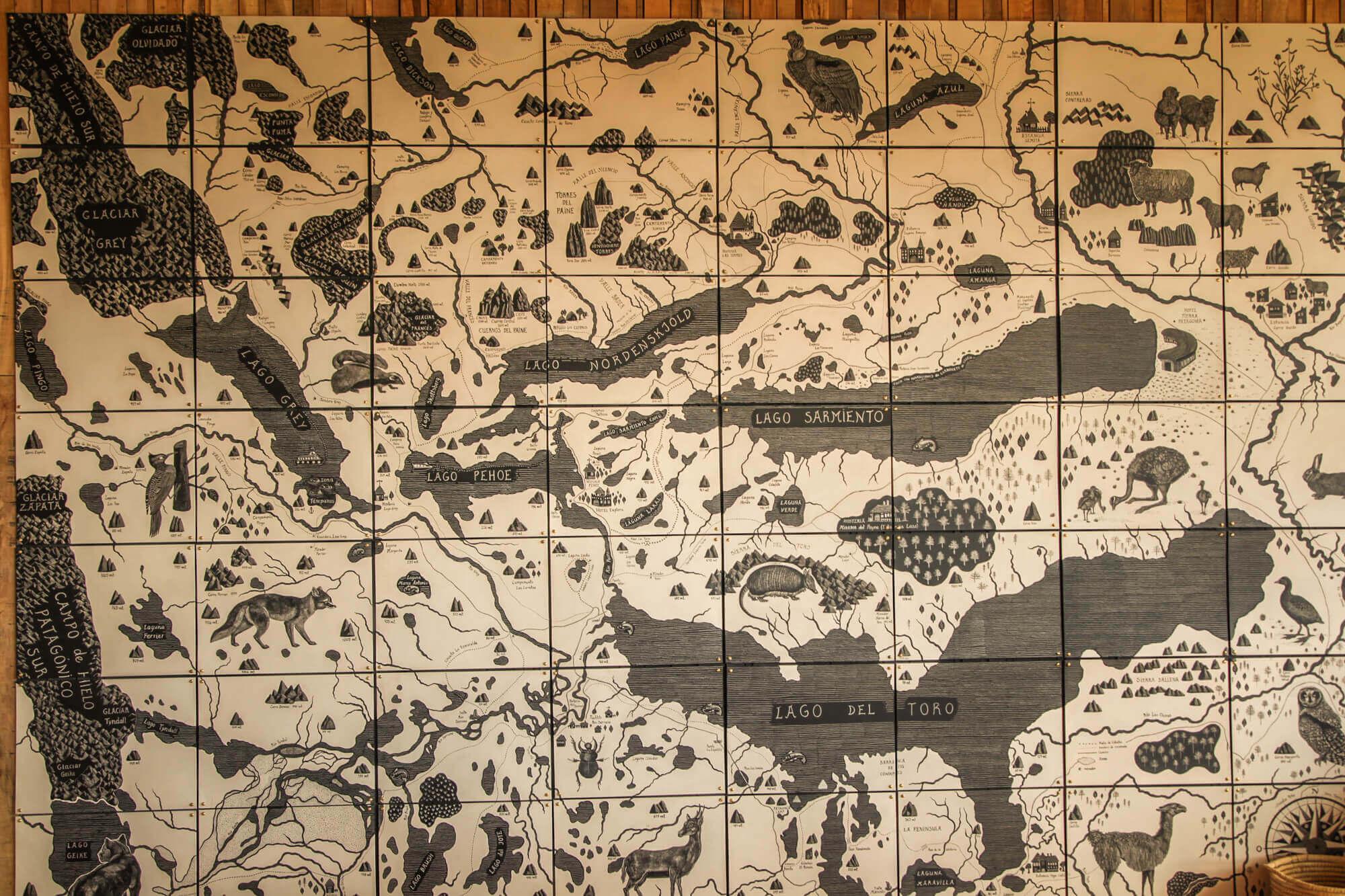 Tierra Patagonia Adventure Map